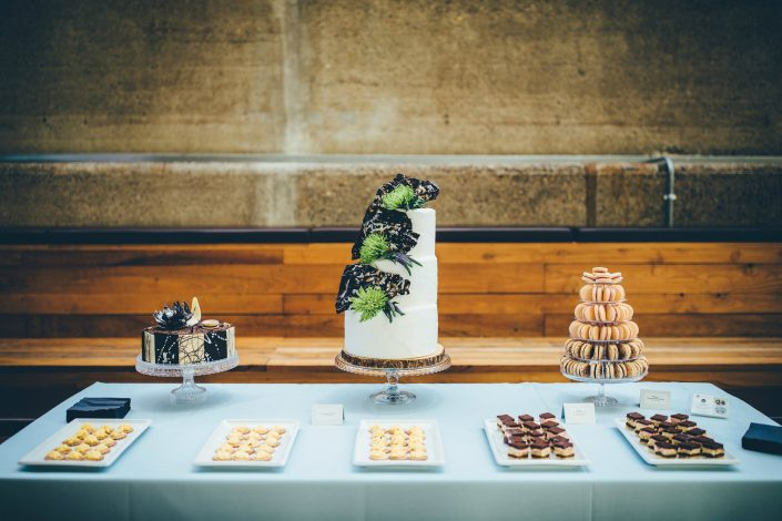 "alt=""Gourmandises Dessert Table at the Cutty Sark, photo by Toby Lowe"""