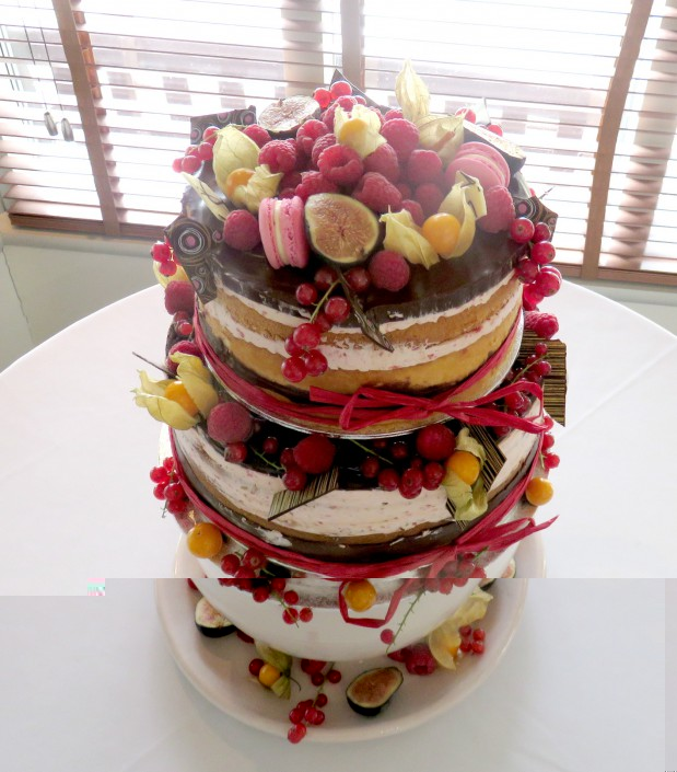 2 tier naked cake Barrington Hall