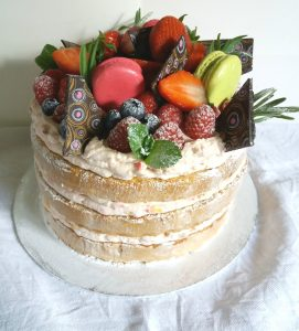 40th birthday - naked cake - 2017 another year of delicious weddings and celebrations