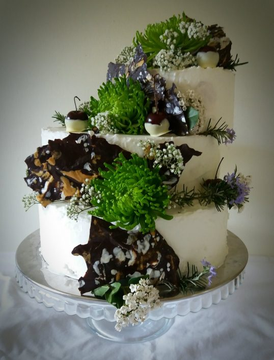 "alt=""wedding cake Brocket Hall"""