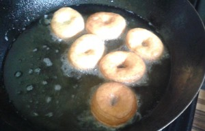 doughnut frying