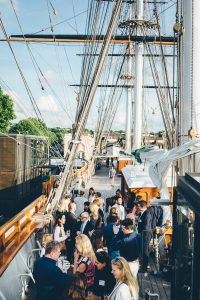 "alt=""Gourmandises at the Cutty Sark with NAWP upper deck"""