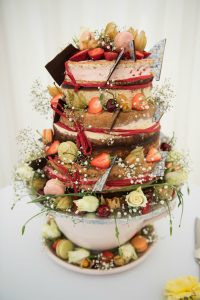 wedding cake - naked cake - Barrington Hall - 2017 another year of delicious weddings and celebrations