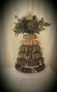 macarons tower - Chippenham Park - 2017 another year of delicious weddings and celebrations