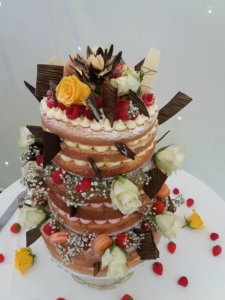 wedding cake - naked cake - Chippenham Park - 2017 another year of delicious weddings and celebrations