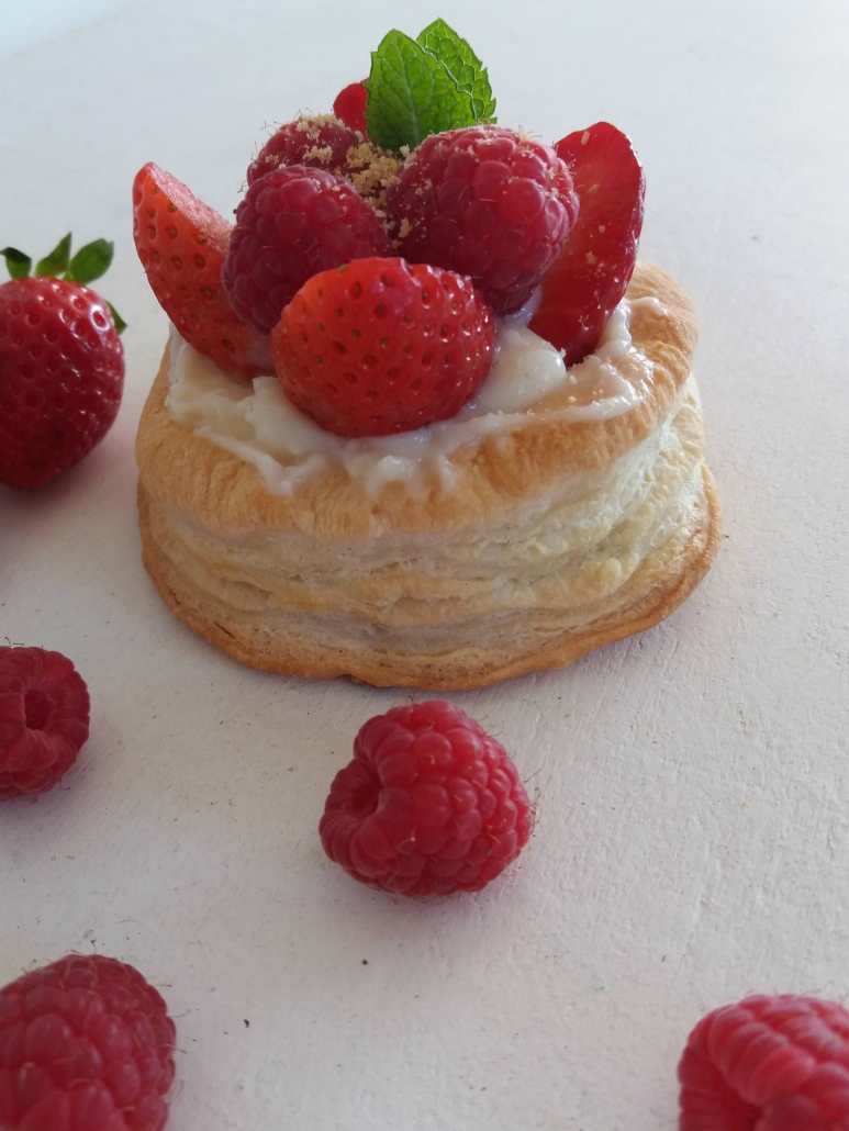 strawberry, raspberry vol au vent