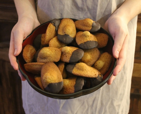 madeleines with a touch of Christmas cheer